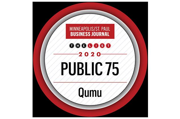 Minneapolis/St. Paul Business Journal 2020 Public 75 seal.